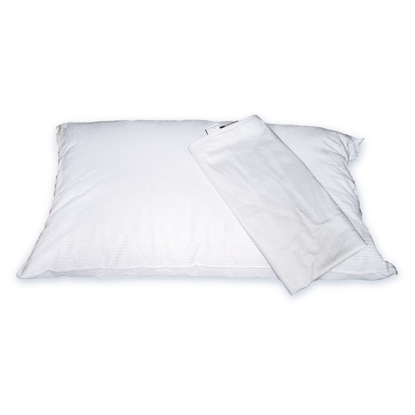 Restmate TempAssure Pillow and Nano-Tex Stain Resistant Cotton Protector Set