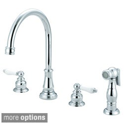 Pioneer Brentwood Series Two Handle Kitchen Widespread Faucet