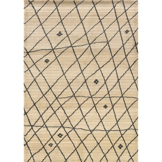 "Old World Tribal Ivory/Brown Area Rug (5'3"" x 7'6"")"