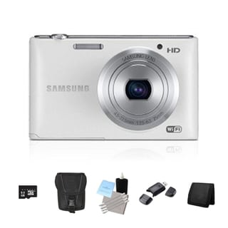 Samsung ST150F Smart 16.2MP White Digital Camera 8GB Bundle
