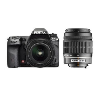 Pentax K-5 IIS DSLR Camera 18-55mm and 50-200mm DAL Lenses