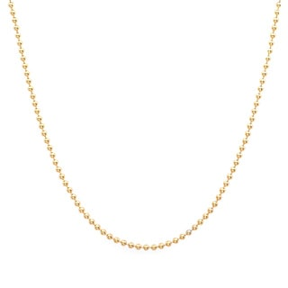 Sterling Essentials 14k Yellow Gold over Silver 1.25-mm Ball Chain