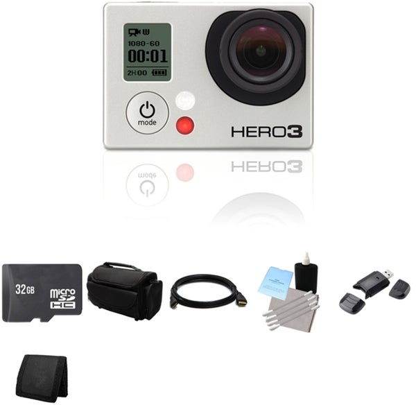 GoPro Hero 3 Black Edition Waterproof Wi-Fi 32GB Bundle