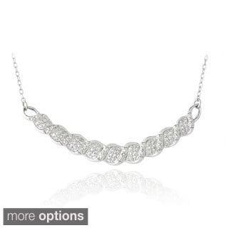 DB Designs Black or White Diamond Accent Bib Necklace