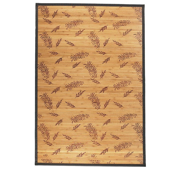 Bamboo Floral Pattern Area Rug (5'x8')