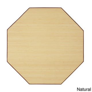 Bamboo Natural Area Rug (5' Octagon)
