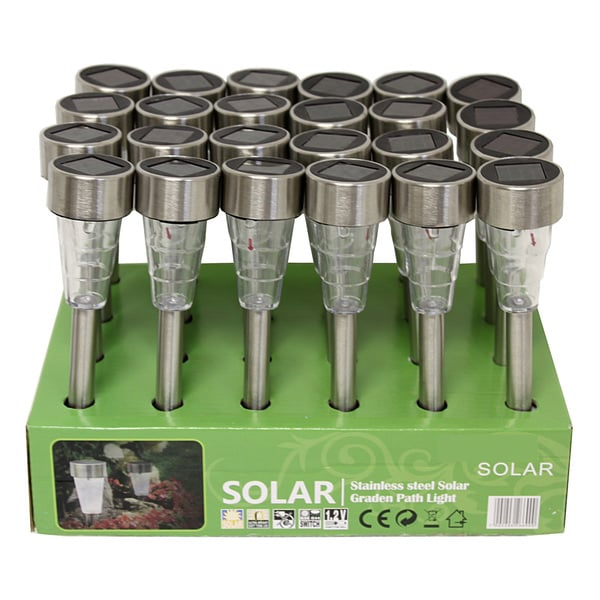 Stainless Steel Mini Multi-Directional Solar Lights (Set of 24)