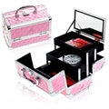Shany Pink Mini Mania Makeup Train Case with Mirror