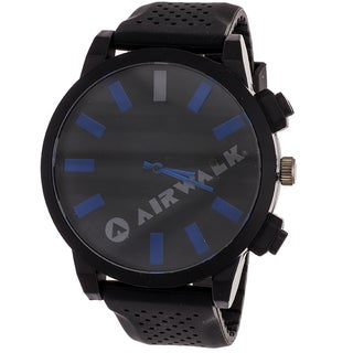 Airwalk Men's 'Rage' Black/ Blue Watch