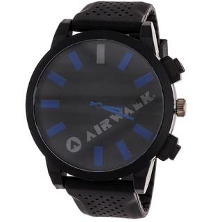 Airwalk Men's 'Rage' Black/ Blue Watch
