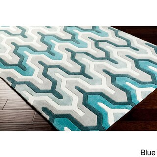Hand-tufted 5x8 'Aztec Contemporary' Geometric Rug