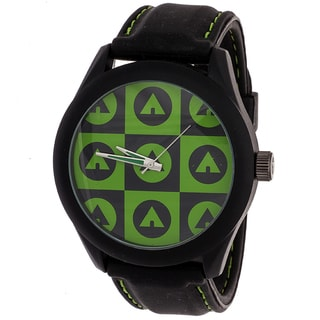 AIRWALK Men's Black/ Green Logo Dial Watch