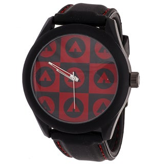 AIRWALK Men's Black/ Red Logo Dial Watch