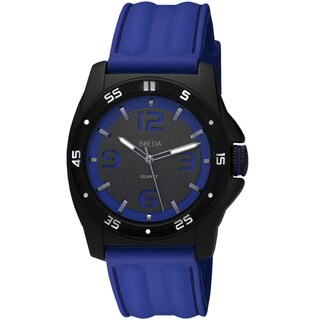 Breda Men's 'Kevin' Blue Silicone Band Watch