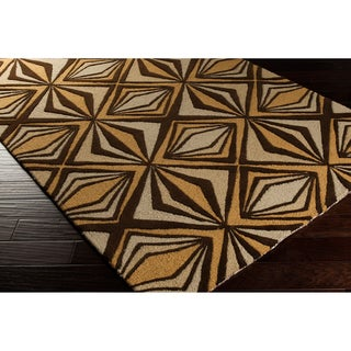 Malene B Destinations Hand-tufted Contemporary Gold Geometric Rug (8' x 11')