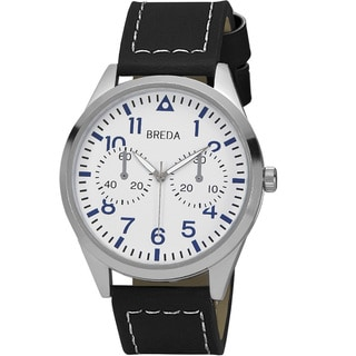 Breda Men's 'Zach' Leather Band Watch