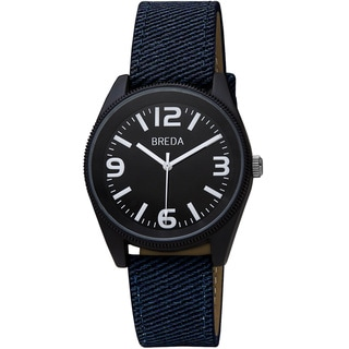 Breda Men's 'Dexter' Bold Denim Canvas Band Watch