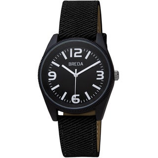 Breda Men's 'Dexter' Bold Bezel Canvas Band Watch