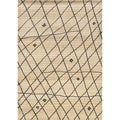 Old World Tribal Ivory/ Brown Rug (6'7 x 9'1)