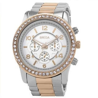 Breda Women's 'Jordan' Two-tone Rosegold Boyfriend Watch