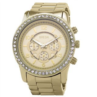 Breda Women's 'Jordan' Gold Boyfriend Watch