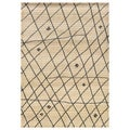 "Old World Tribal Ivory/Brown Transitional Rug (7'10"" x 10'10"")"