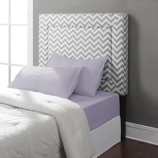 Zoey Grey Chevron Twin Headboard