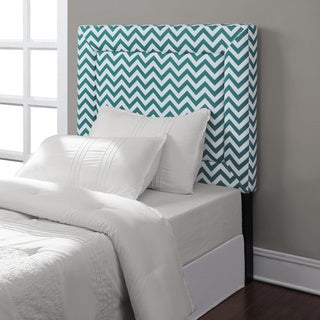 Zoey Peacock Chevron Twin Headboard