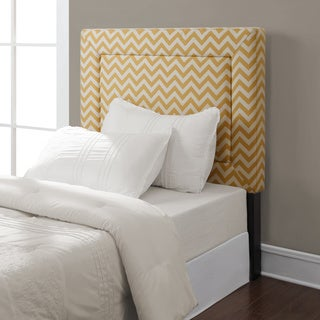 Zoey Yellow Chevron Twin Headboard