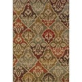 Tribal Panel Multi/ Beige Rug (7'10 x 10'10)