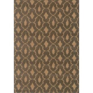 Ikat Panel Blue/ Ivory Rug (7'10 x 10'10)
