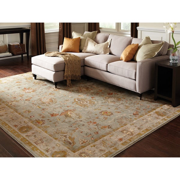 Distressed oriental blue grey rug 7 39 10 x 10 39 10 for 7x9 bathroom designs
