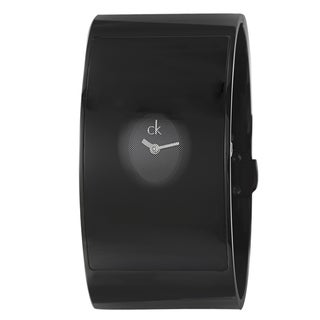 Calvin Klein Women's 'Flash' Steel Black PVD Cuff Watch