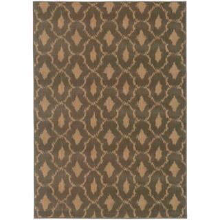 Ikat Panel Blue/ Ivory Nylon/Rug (9'10 x 12'10)