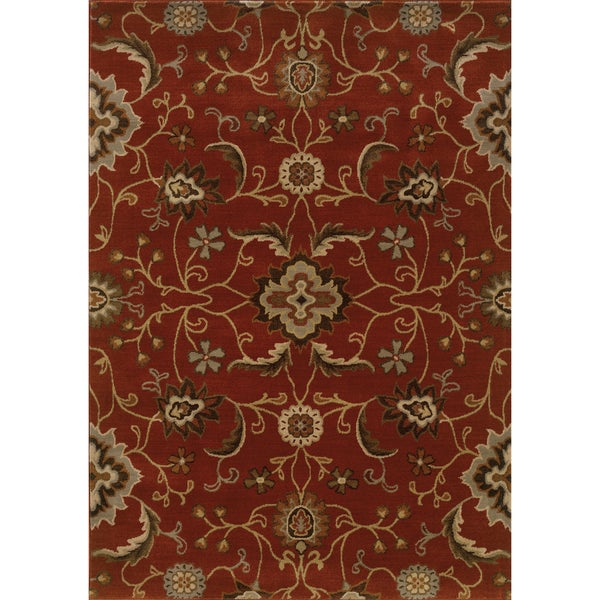 Floral Red/ Multi Nylon/Rug (9'10 x 12'10)