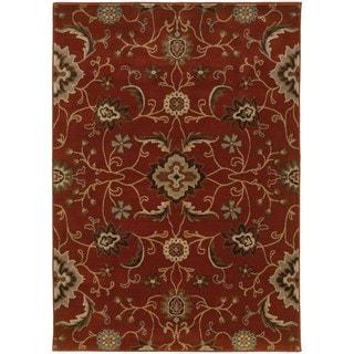 Floral Red/ Multi Nylon/Rug (9'10 x 12'10)
