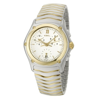 Ebel Men's 'Classic Wave' 18k Yellow Gold/ Stainless Steel Swiss Quartz Watch
