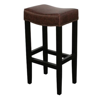 Optima Brown Backless Barstool
