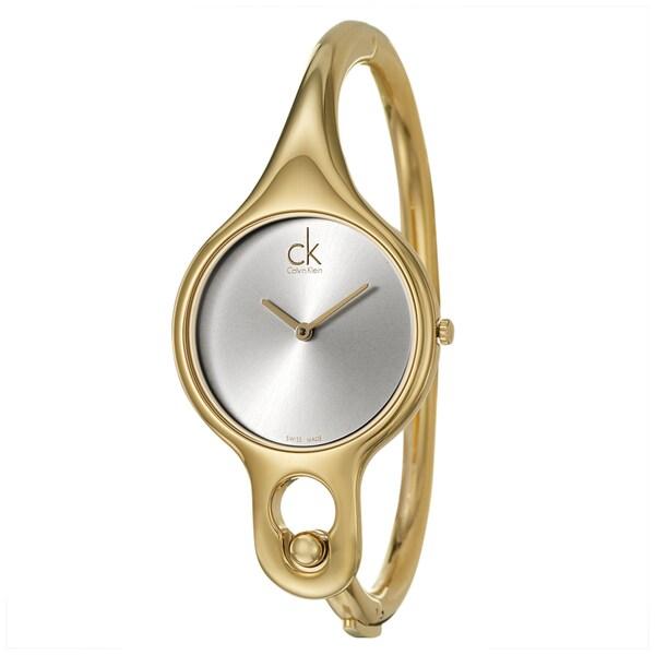 Calvin Klein Women's 'Air' Yellow Goldplated Swiss Quartz Watch with 6.5-inch Band 11288887