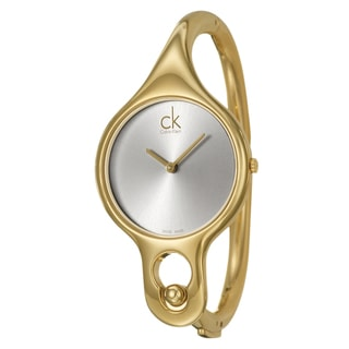 Calvin Klein Women's 'Air' Yellow Goldplated Watch with 6-inch Band