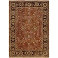 Distressed Oriental Orange/ Brown Nylon/Polypropylene Rug (9'10 x 12'10)