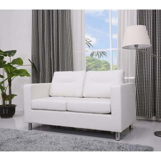 'Detroit' White Loveseat