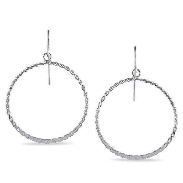 Miadora Sterling Silver Circle Earrings