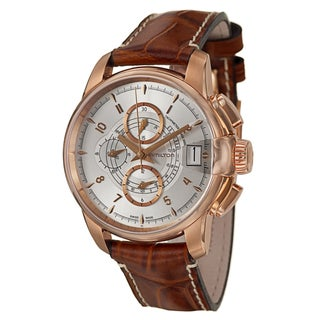 Hamilton Men's 'American Classic' Stainless Steel Rose Gold PVD Coated Swiss Automatic Watch
