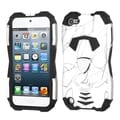 BasAcc Curve Lines White/ Black Car Hybrid Case for Apple iPod Touch 5