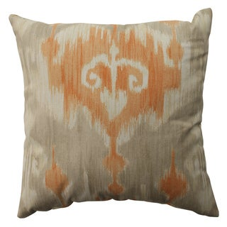 Pillow Perfect Marlena Ikat Orange 16.5-inch Throw Pillow