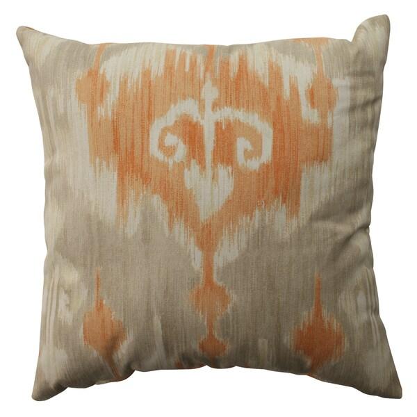 Pillow Perfect Marlena Ikat Orange 16.5-inch Throw Pillow