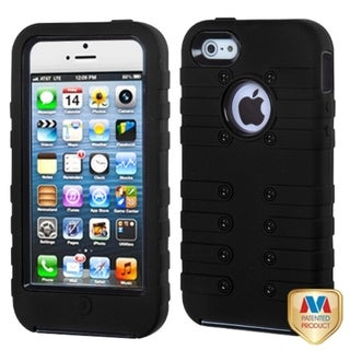 BasAcc Black/ Black TUFF eNUFF Hybrid Phone Case for Apple iPhone 5