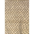 "Old World Tribal Machine-Woven Ivory/Brown Rug (6'7"" x 9'1"")"