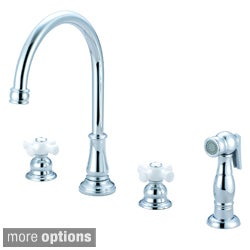 Pioneer Brentwood Series Double-handle Kitchen Widespread Faucet